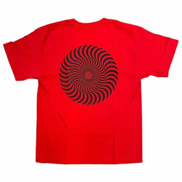 Spitfire Tee YOUTH Classic Swirl Red Black