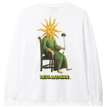 Real Bad Man Sun God Long Sleeve T-Shirt - White