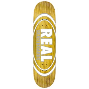 "Real Skateboards - Oval Pearl Pattern Deck 8.5"" Wide"