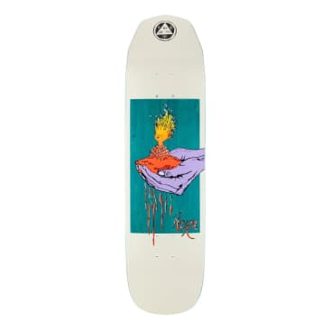 """Welcome Soil On Wicked Princess Deck Bone/Teal (8.125"""")"""