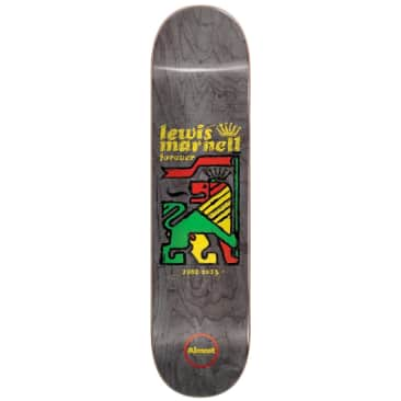 Almost Lewis Marnell Rasta Lion Skateboard Deck - 8""