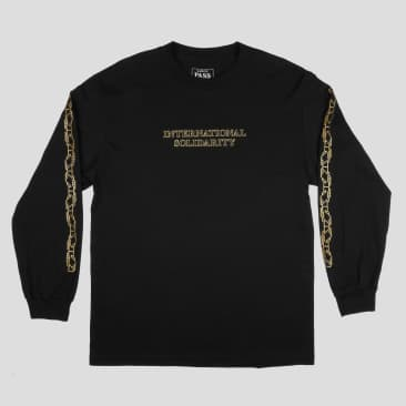 Pass~Port Intersolid Long Sleeve T-Shirt - Black / Gold