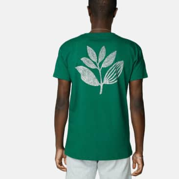 MAGENTA POINTS PLANT TEE - GREEN