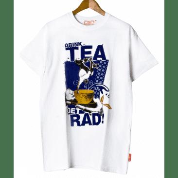 Lovenskate - 'DRINK TEA GET RAD' Printed Short-sleeve Tee (White)