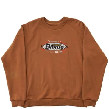 Bronze 56k Tool Time Crewneck Sweatshirt - Rust