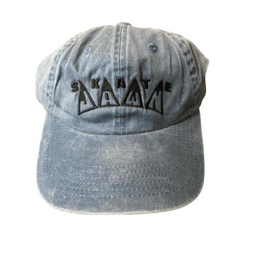 Skate Jawn - King Embroidered 6 Panel Hat (Blue)