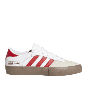 adidas Skateboarding Matchbreak Super Shoes - Cloud White / Power Red / Gum