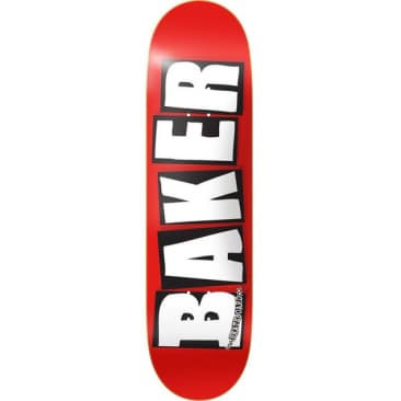Baker Brand Logo Deck (Red/White) 8.5