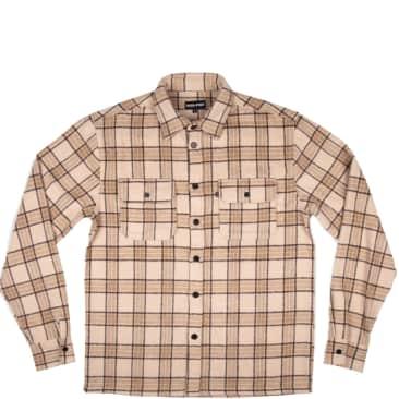 Pass~Port Workers Flannel Long Sleeve Shirt - Cream