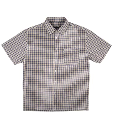 Pass~Port Woven Check Shirt - Navy