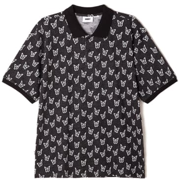 OBEY Butterfly Polo Shirt - Black / Multi