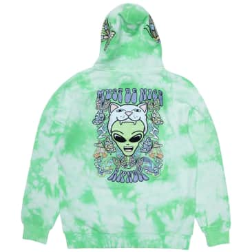 Ripndip Think Factory Embroidered Hoodie - Mint Cloud Wash