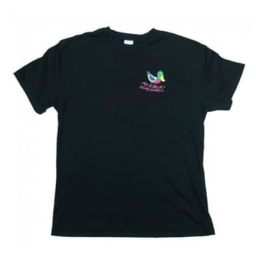 Aylesbury Skateboards Logo Shop T-Shirt - Black (Front Print)