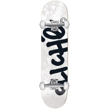 "Cliche - 8.25"" Handwritten First Push Complete Skateboard (White)"