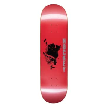 "Hockey Chaos Red Skateboard Deck - 8.75"""