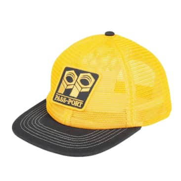 Pass~Port Bolt Trucker Cap - Gold / Navy