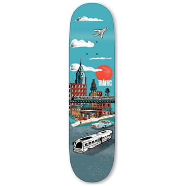Traffic Skateboards City Blocks Liberty Place Skateboard Deck - 8.5""