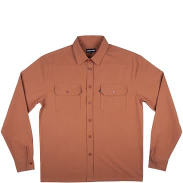 Pass~Port Workers Long Sleeve Shirt - Rust
