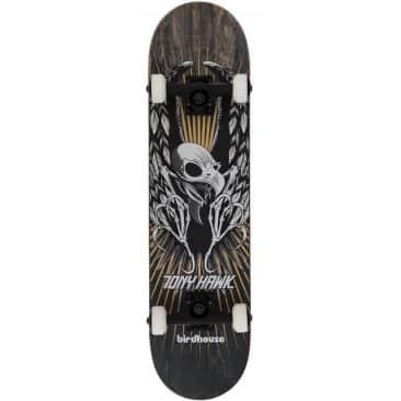 """Birdhouse Skateboards Stage 3 Hawk Wings Black Complete Skateboard 7.75"""""""