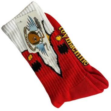 Toy Machine Socks Sketchy Monster Red White