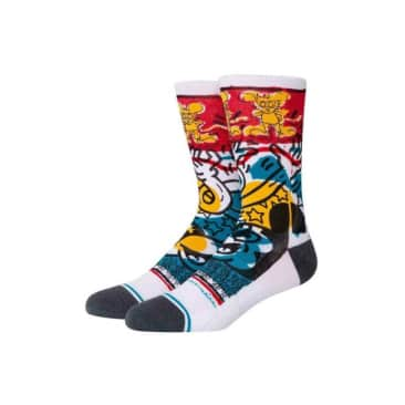 Stance Socks - Stance x Disney Primary Haring Socks | White