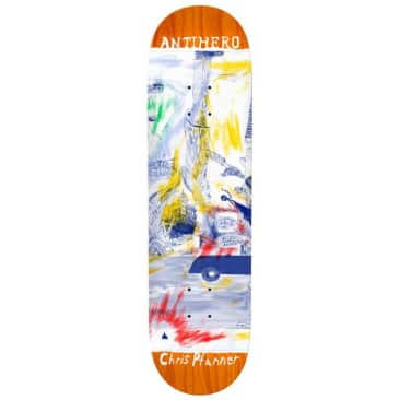 "Anti Hero Skateboards Chris Pfanner SF ""Then And Now"" Skateboard Deck - 8.06"