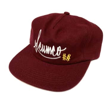 Scumco and Sons Baseball Wool Hat Burgundy SnapBack