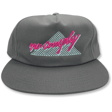 No-Comply 80's Script Snap Back Hat - Charcoal