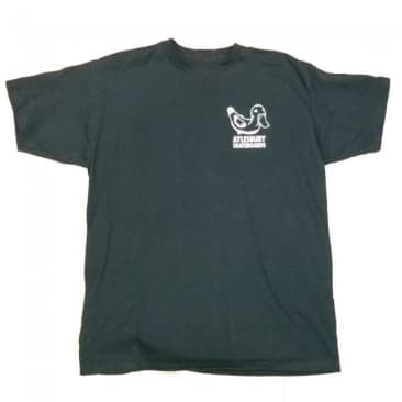 Aylesbury Skateboards Whiteout Shop T-Shirt - Black