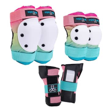 Triple Eight Saver Series Pads 3 Pack Shaved Ice Color Collection (Knee/Elbow/Wrist)