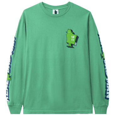 Real Bad Man Graphic Content Long Sleeve T-Shirt - Funk Green
