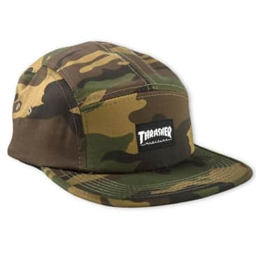THRASHER BLACK 5 PANEL CAP - CAMO