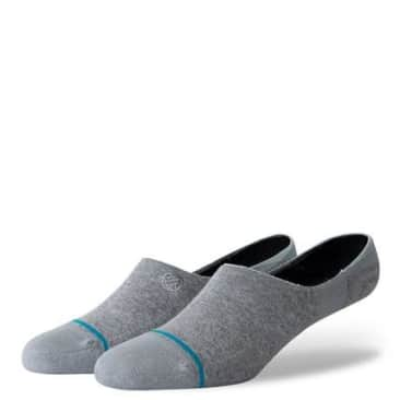 Gamut 2 No Show Heather Grey Socks