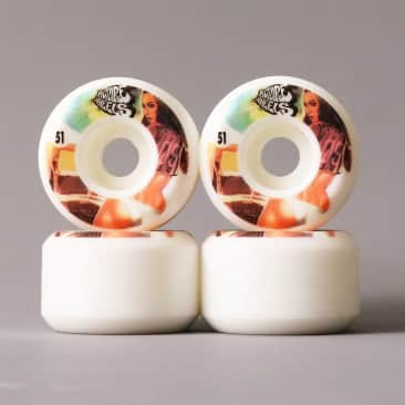 Picture Skateboarding Wheels   Kung Fu Drifters The Look   51mm