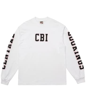 Central Bookings Academy Flat Long Sleeve T-Shirt - White
