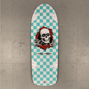 Powell Peralta Skateboards Ripper White Mint Checker Re-Issue 10.0 Deck