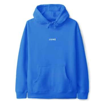 June - 'PUFF!' Mens Hood - Electric Blue, White
