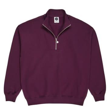 Polar Skate Co Zip Neck Sweatshirt - Prune