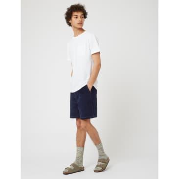 Bhode Cord Shorts (Needle Cord) - Navy Blue