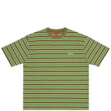 WKND Stripe T-Shirt - Green / Brown
