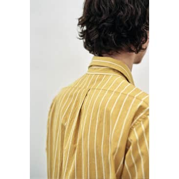 LS Popover Shirt Two Canary / White Stripe