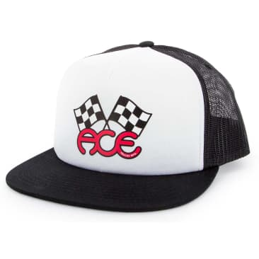 Ace Trucks Flags Trucker Hat Black/White