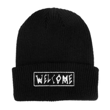 Welcome Skateboards Scrawl Beanie (Black)