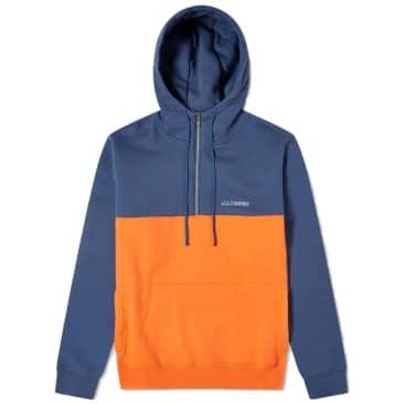 Alltimers Struck Half Zip - Blue/Orange