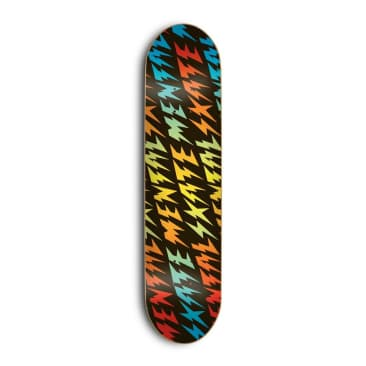 Skate Mental Bolt Black Deck - (8.25)