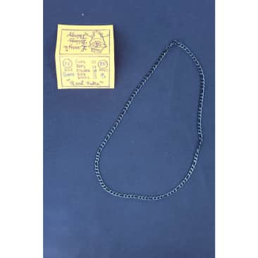 Figaro Necklace 24 inch 5 mm - Black