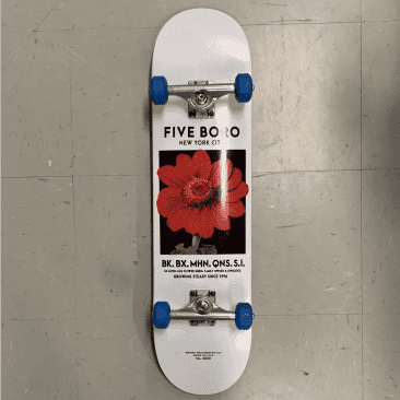 Five Boro Skateboards Red Floral Complete 8.125