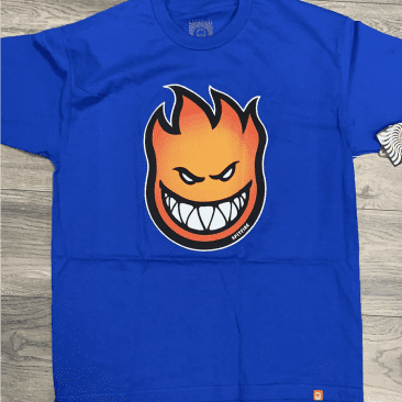 Spitfire Big Head Fill Royal Blue/Gold Tee