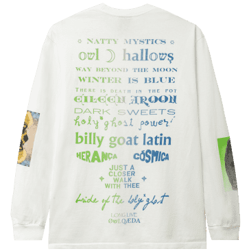 Real Bad Man Warbles Tribute Long Sleeve T-Shirt - White