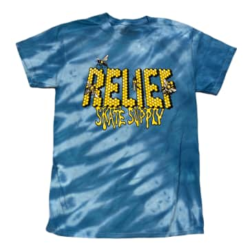Relief Skate Supply Tiger Stripe Blue Tee